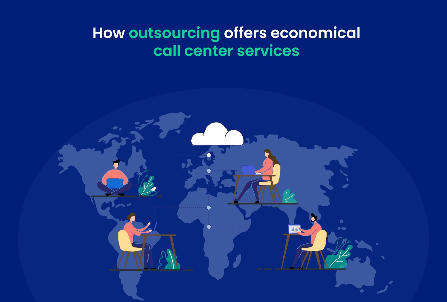 How outsourcing offers economical call center services